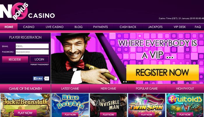 online casino no deposit bonus cashback scene