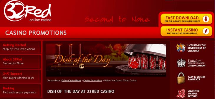 32red Casino Bonus 10 160 On First 5 Deposits