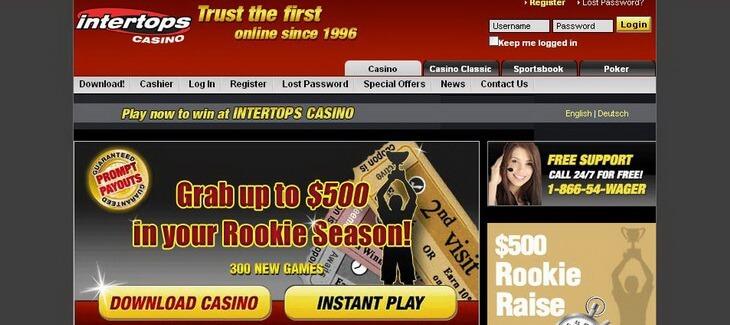 Grab Up To 500 Casino Intertops