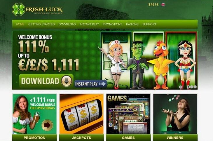 Claim C 15 No Deposit Free Chip at Irish Luck Casino