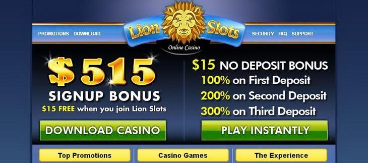 No Deposit 15 Bonus Lionslots Casino