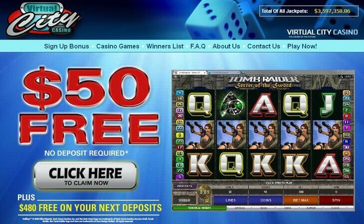 virtual city casino no deposit bonus codes